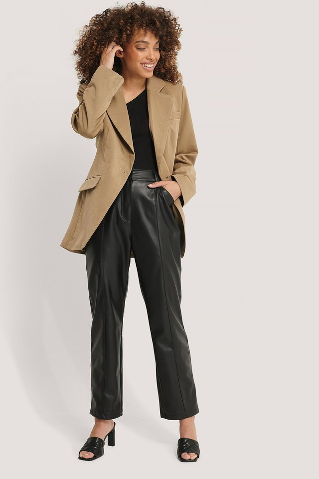 Overlap Blazer Outfit.