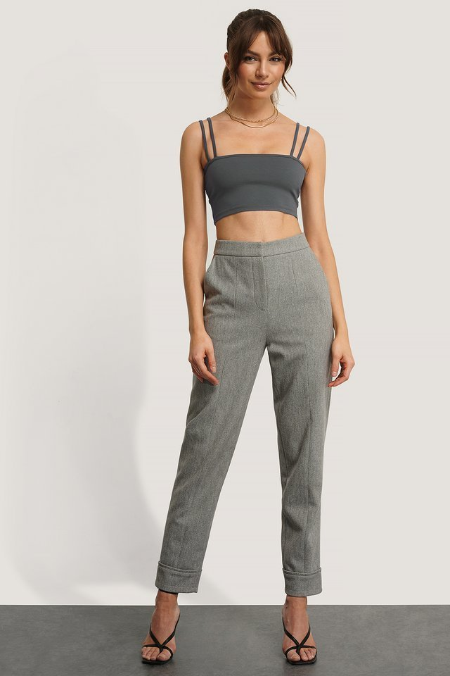 Double Strap Jersey Top Outfit.