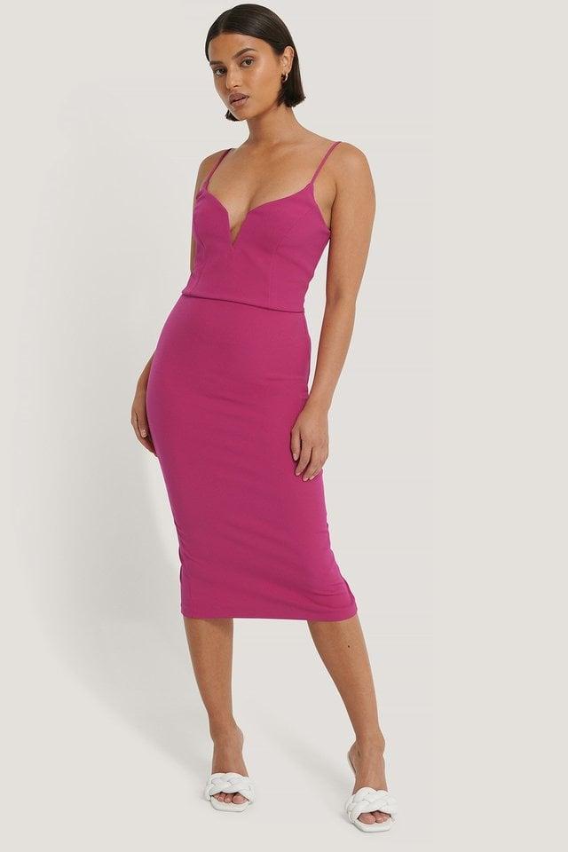 Milla Midi Dress Outfit.