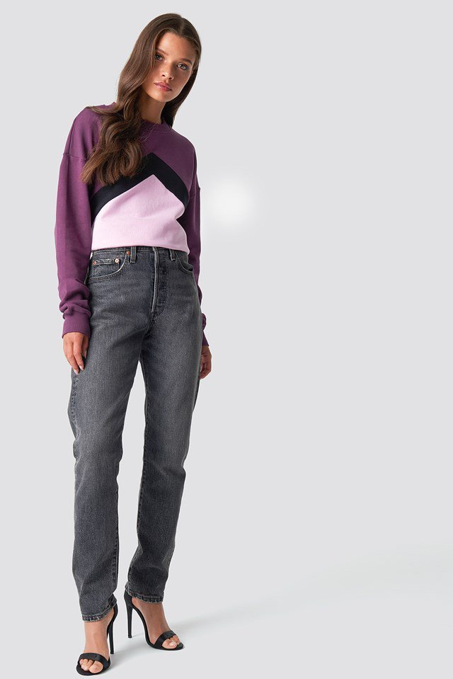 Blocked Chest Sweatshirt Outfit