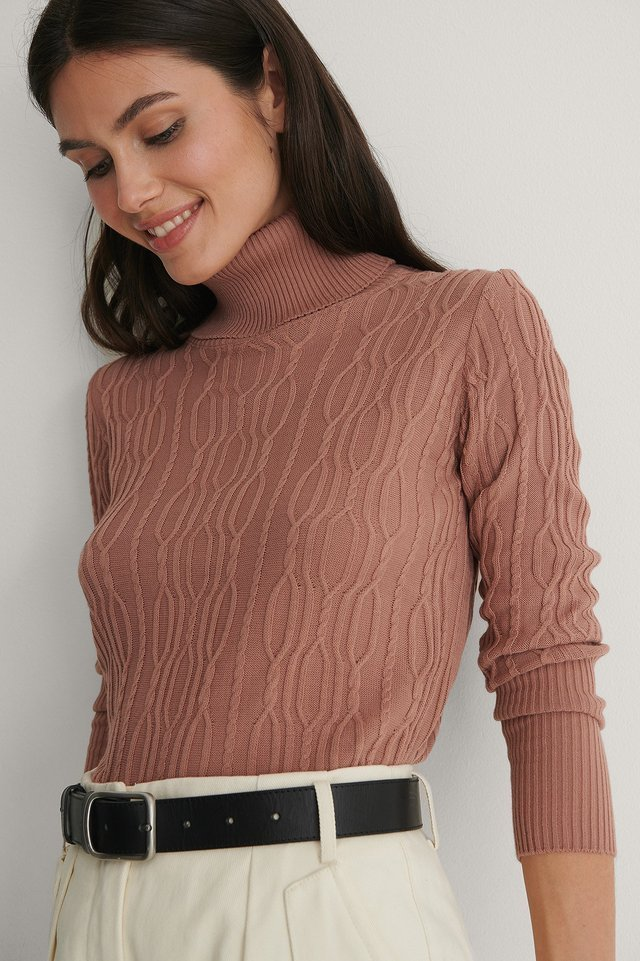 Rose Detailed Knitted Sweater