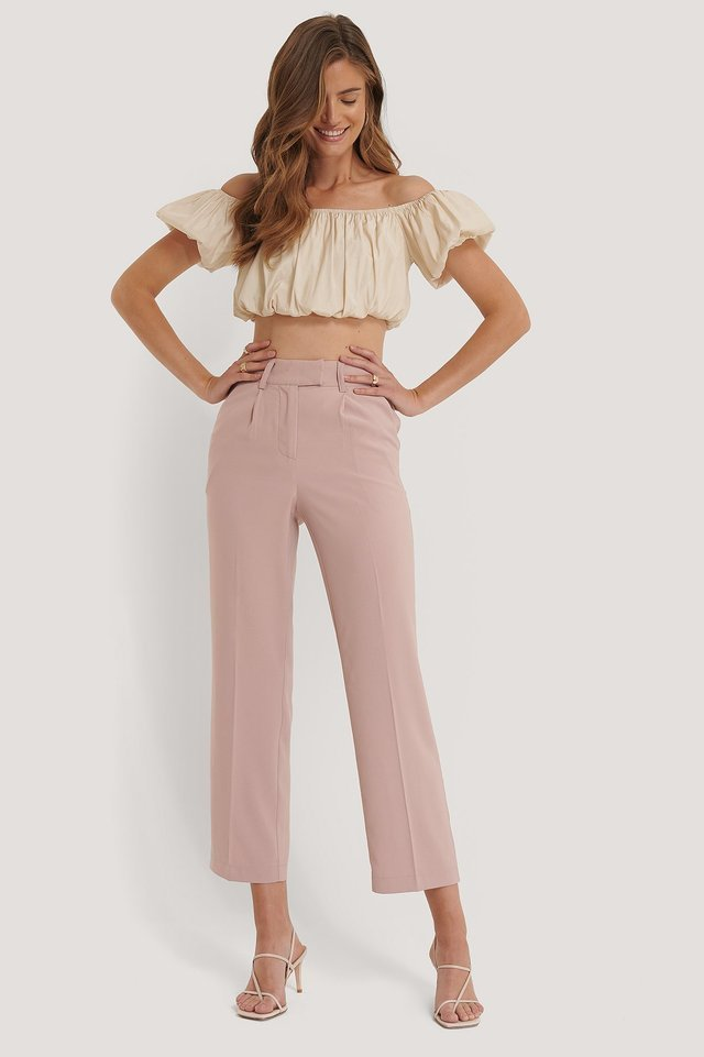 Straight Pleated Pants Outfit.