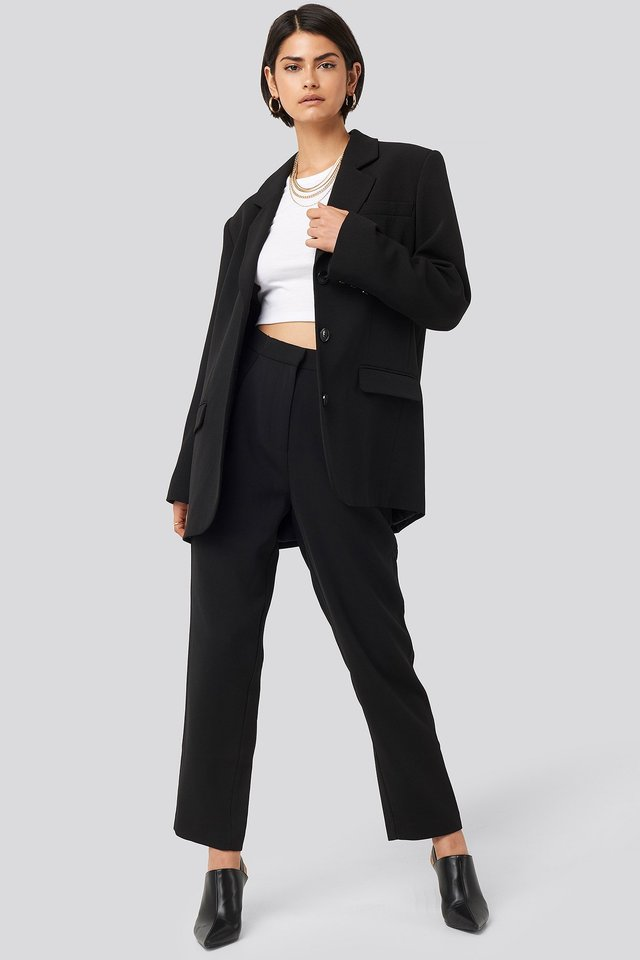 Maxi Oversized Blazer Outfit.