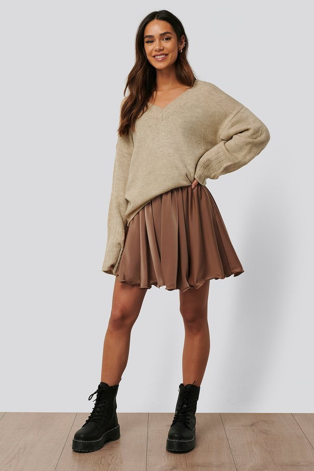 Circle Mini Skirt Outfit.