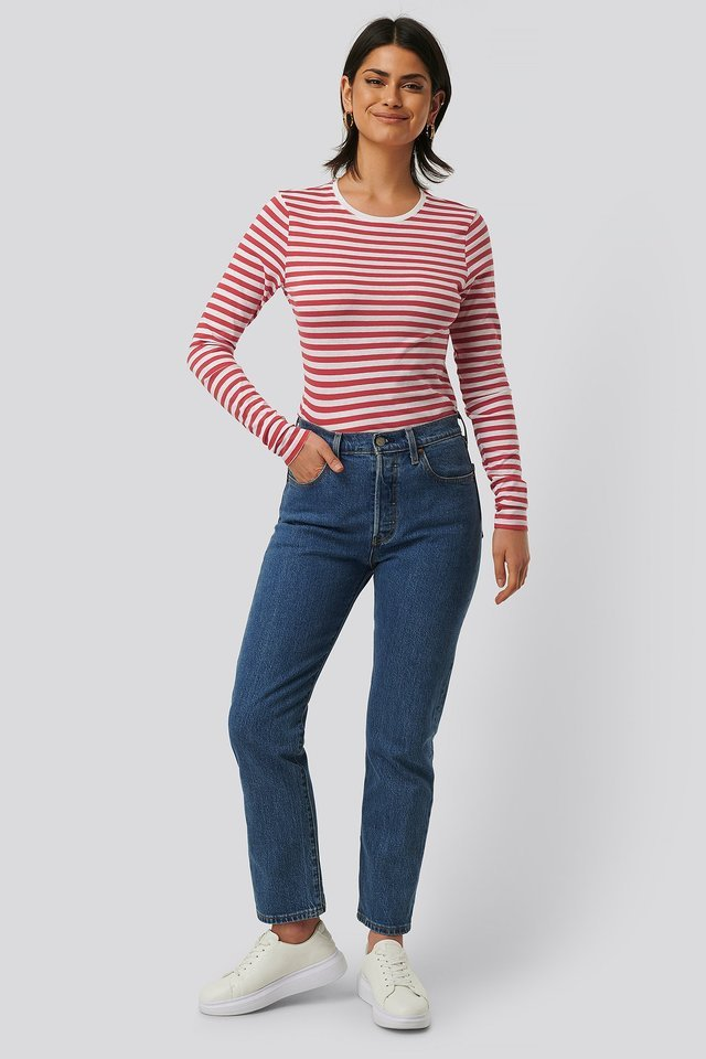 Long Sleeve Striped Tee Outfit.