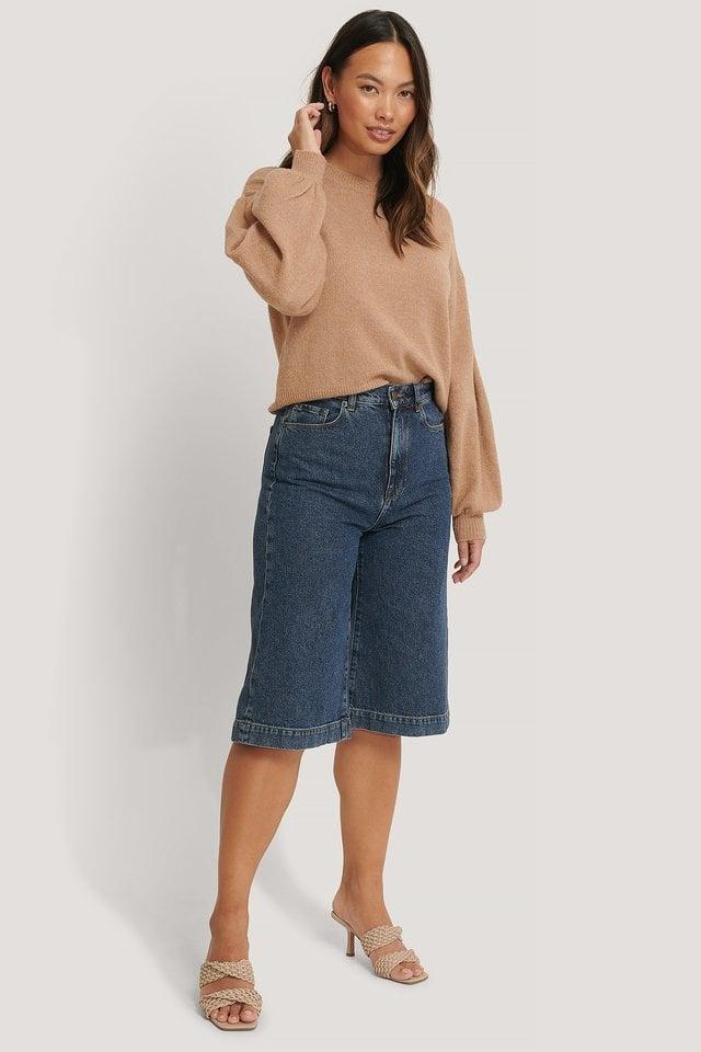 Drop Shoulder Knit Outfit.