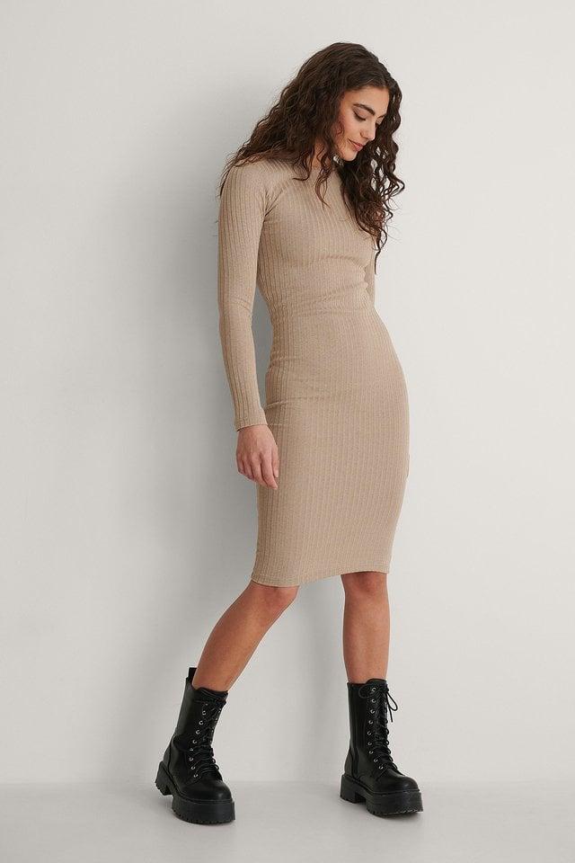 Rib Midi Dress Outfit.