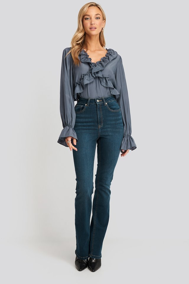 Frill Detail Blouse Outfit.