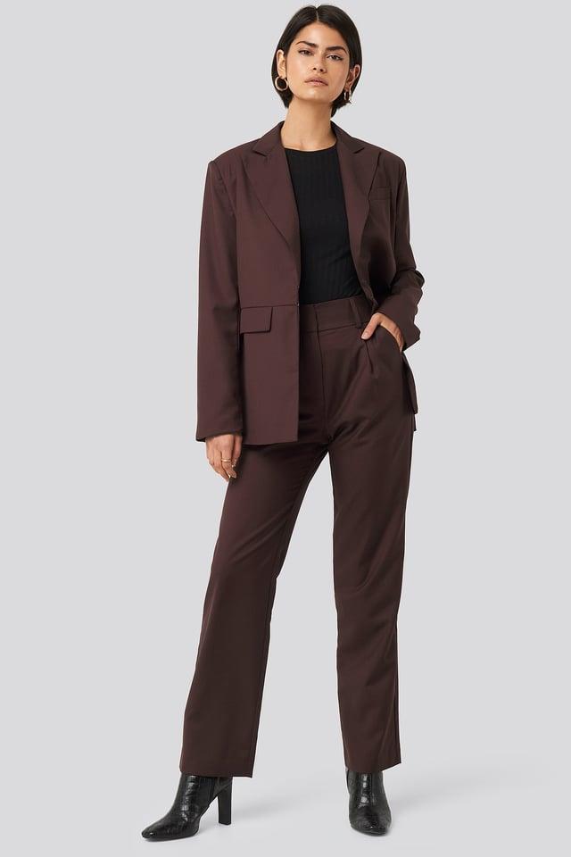 Cutline Loose Fit Detail Blazer Outfit.
