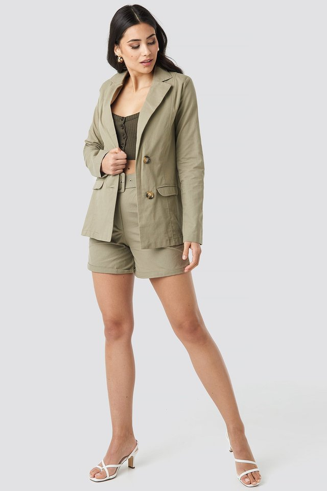 Yol Pocket Detailed Jacket Outfit.