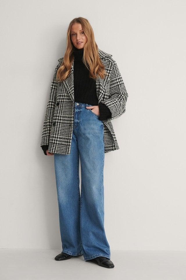 High Waist Wide Leg Jeans Outfit.