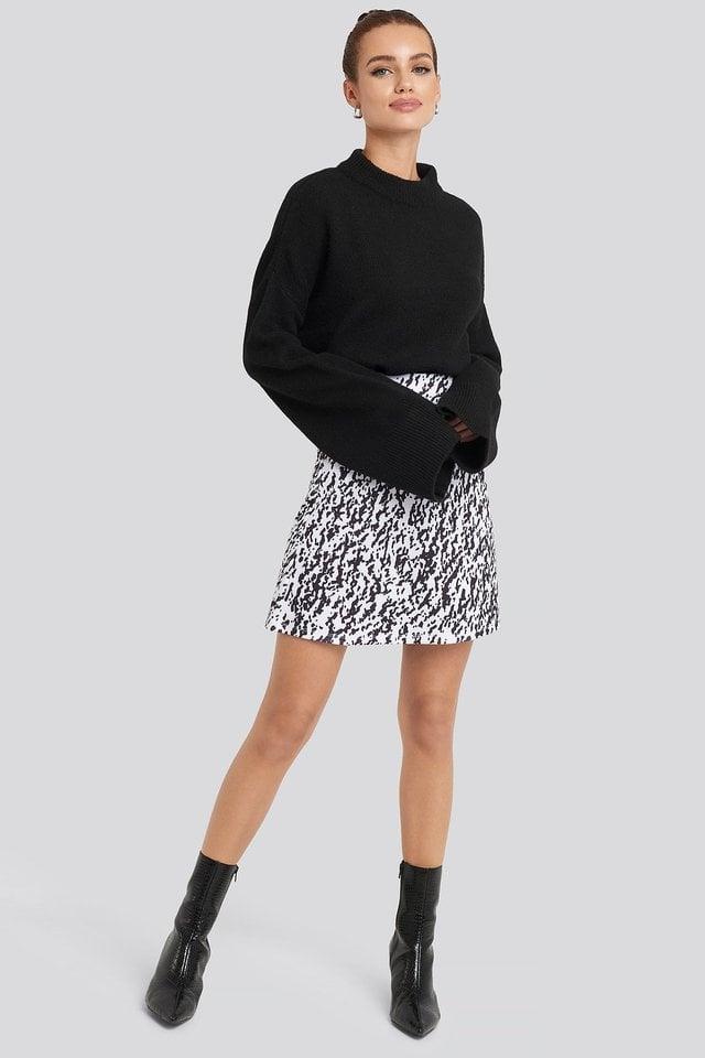 High Waist A-Line Skirt Outfit.