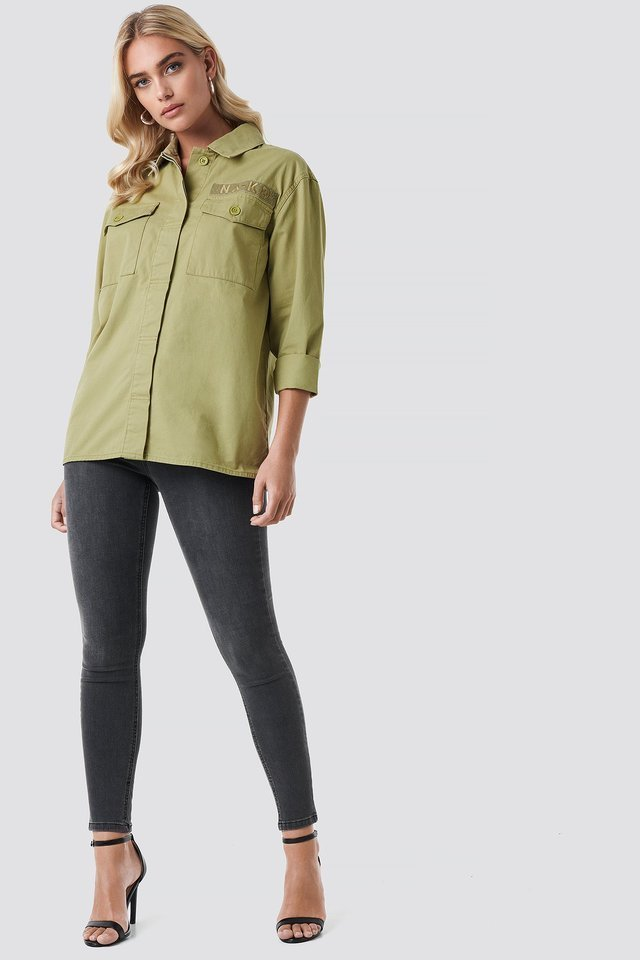 Utility Pocket Shirt Outfit.