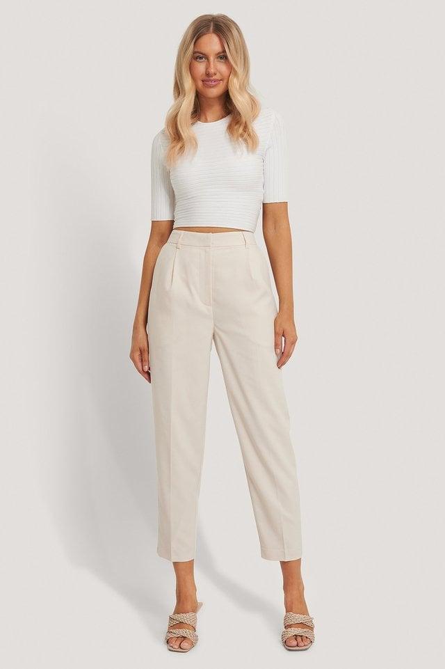 Pleat Suit Pants Outfit.