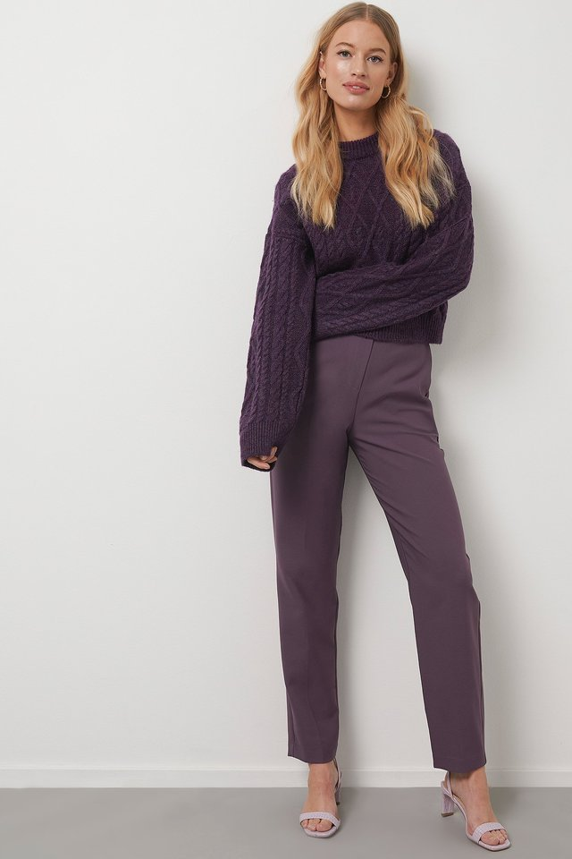 Straight Suit Pants Outfit.