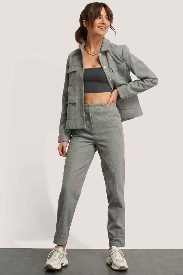 Pleat Front Pants Outfit.
