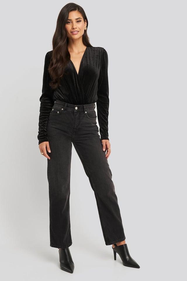 Overlap Velvet Body Outfit.
