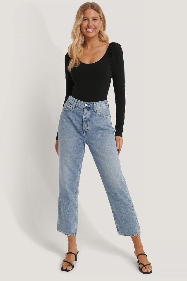 Dad Jeans Blue Outfit.