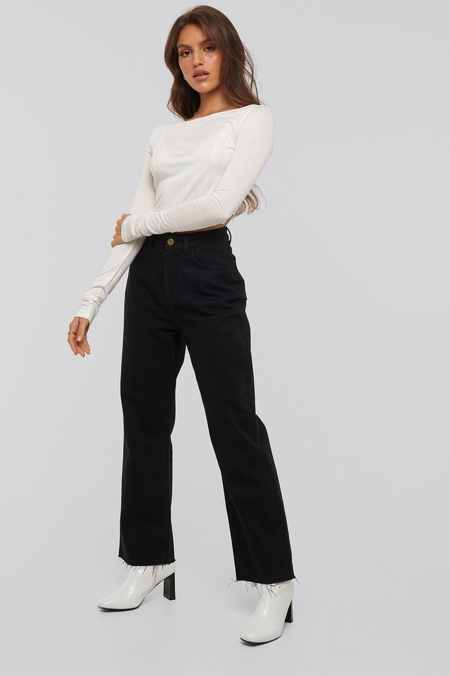 Lucy Boatneck Top Outfit.