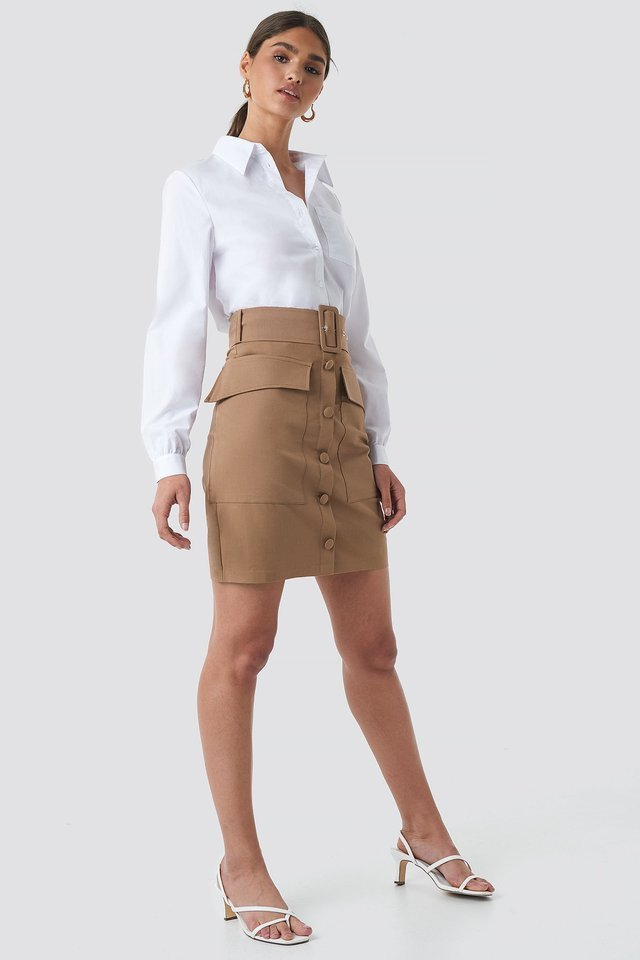 Cargo Belted Skirt Outfit.