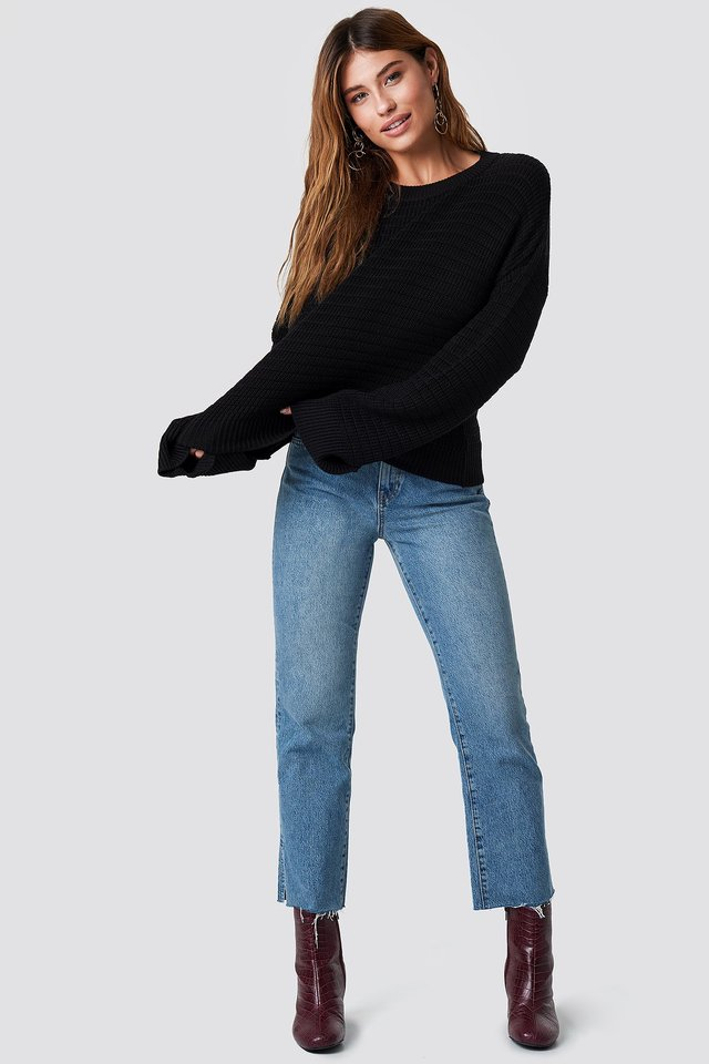 Laurette Oversize Sweater Outfit.