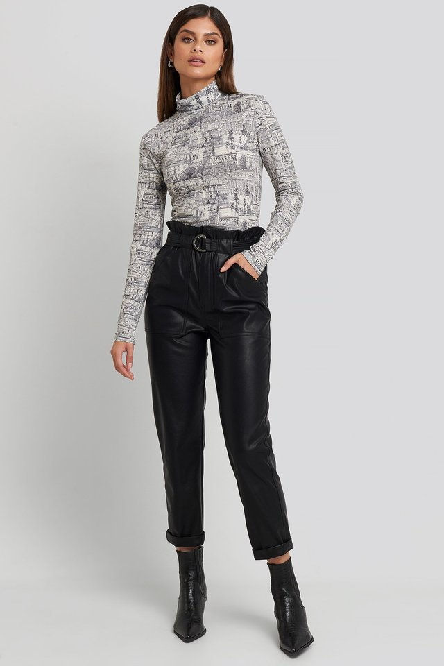 Viscose Turtleneck Top Outfit.
