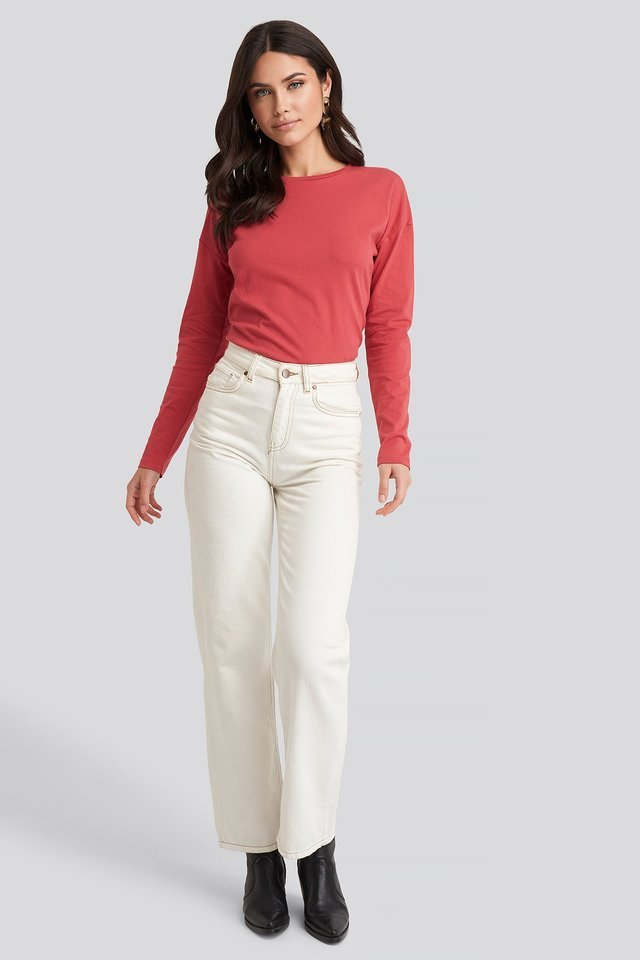 Long Sleeve Basic Top Outfit.