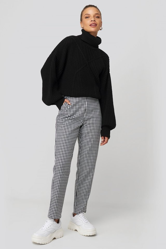 Checked Suit Pants Outfit.
