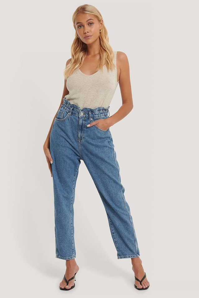 Slouchy Jeans Blue Outfit.