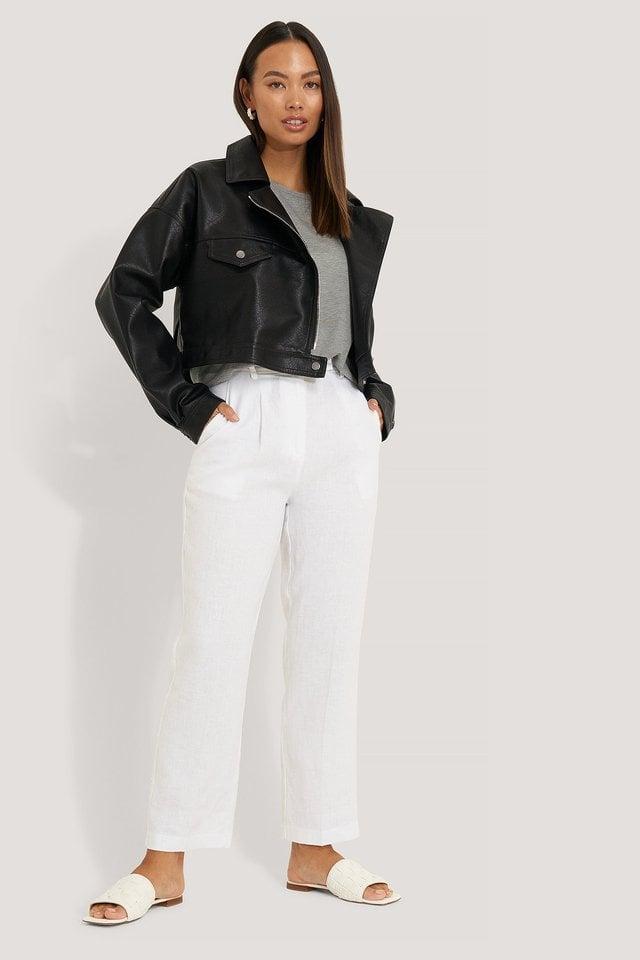 PU Oversized Jacket Black Outfit.