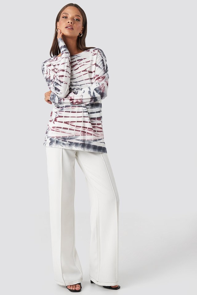 Tie Dye Long Sleeve T-shirt Outfit.