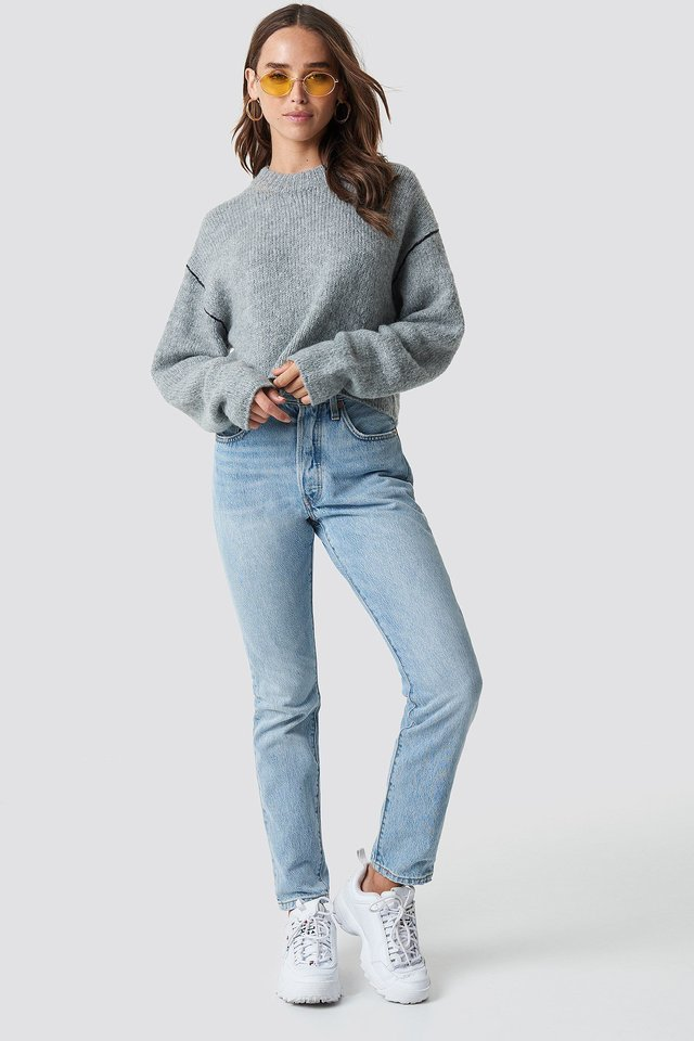 Knit and Denim Outfit