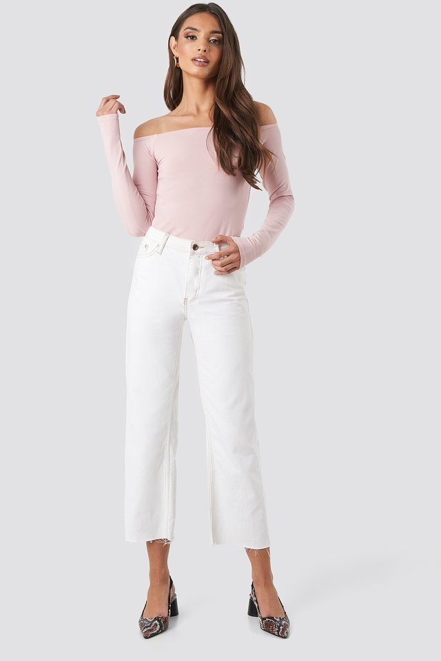 Long Sleeve Off Shoulder Top Outfit.