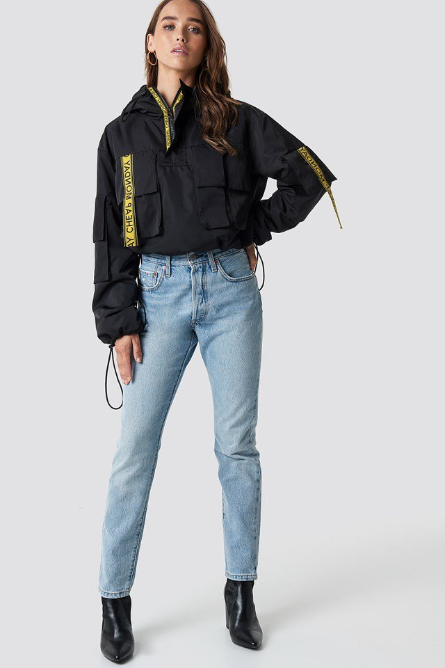 Trendy Rain Jacket Look