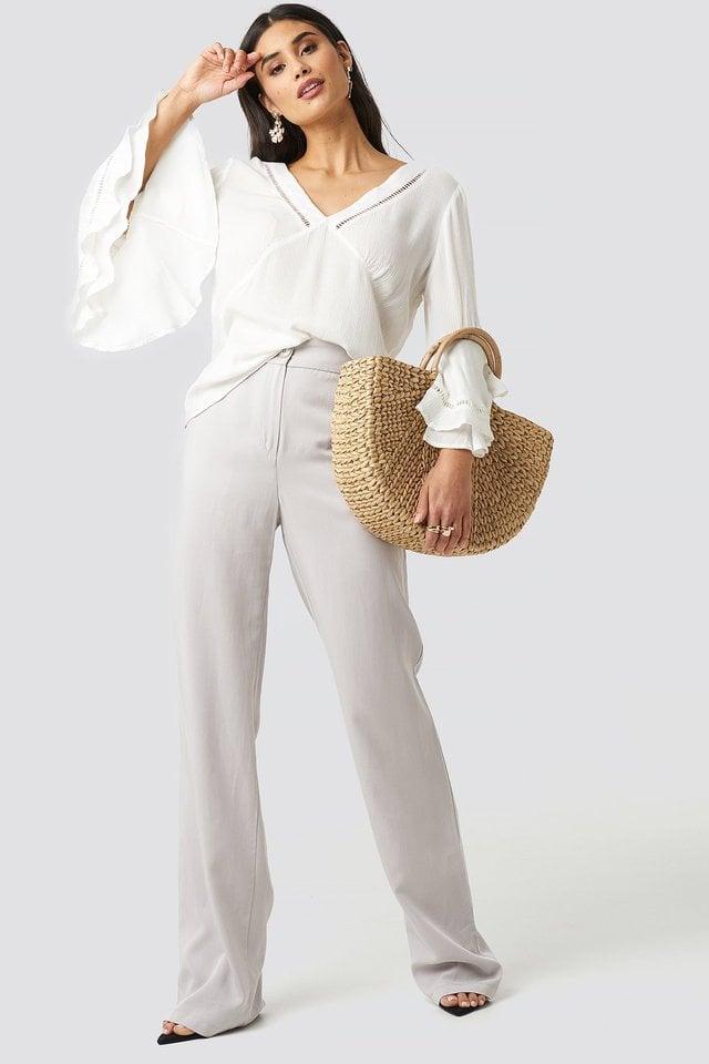 Romantic Blouse Outfit.
