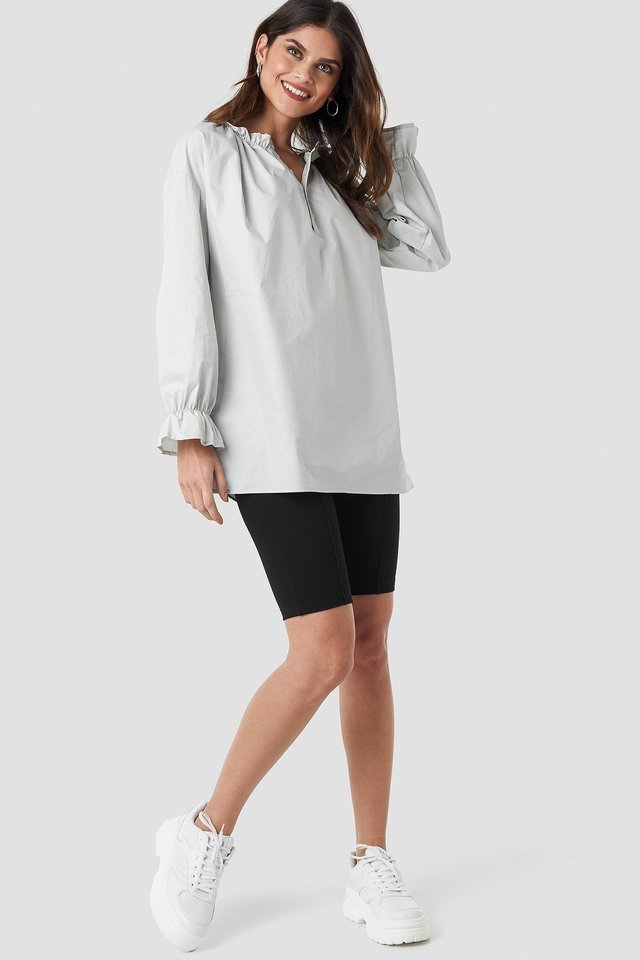 Gathered Neckline Tunic Outfit.