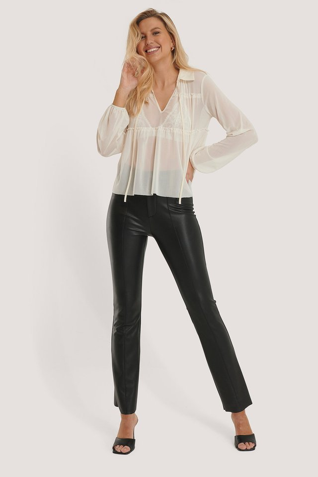 Tulle LS Blouse Outfit.