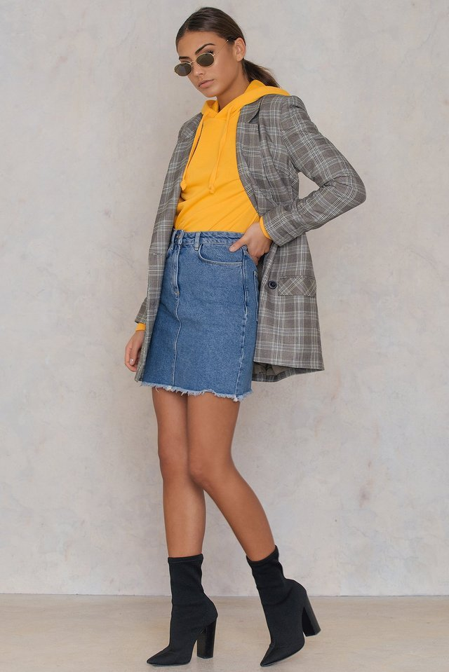 Denim Skirt Outfit.