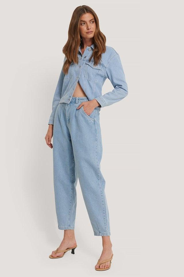 Oversized Denim Jacket Blue Outfit.