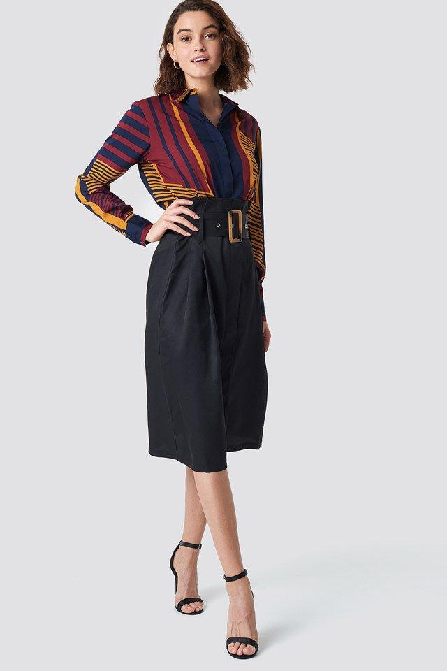 Midi Skirt With Shirt
