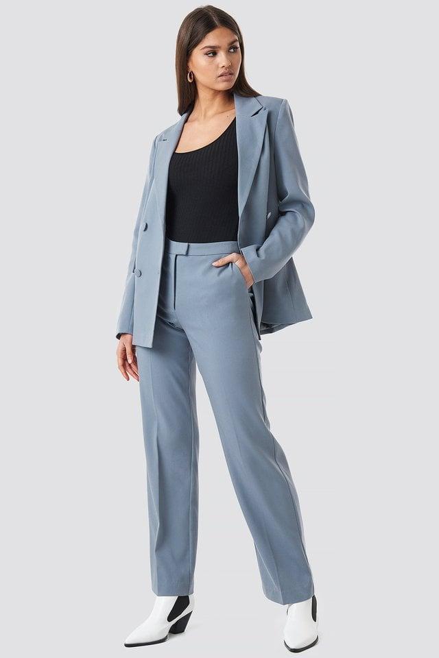 Regular Fit Suit Pants Outfit.