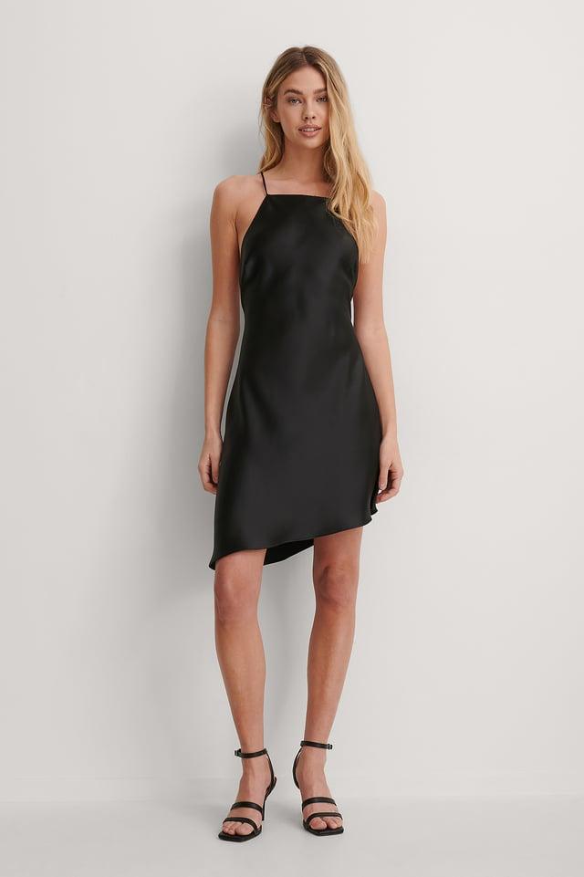 Open Back Satin Dress