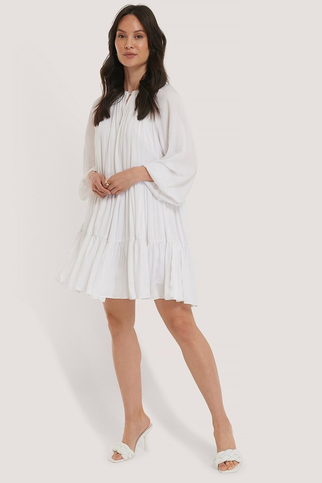 Oversized Smock Mini Dress Outfit.