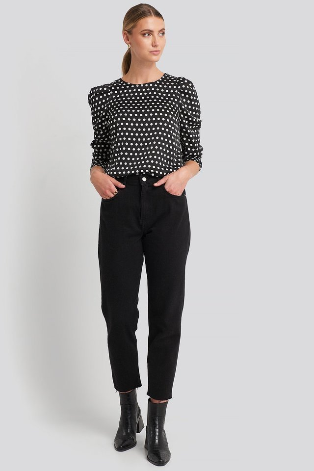 Sandra Puff Blouse Outfit.
