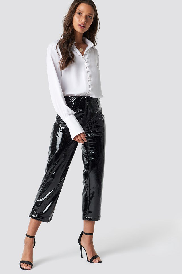 Legging Pants with Button Detailed Blouse