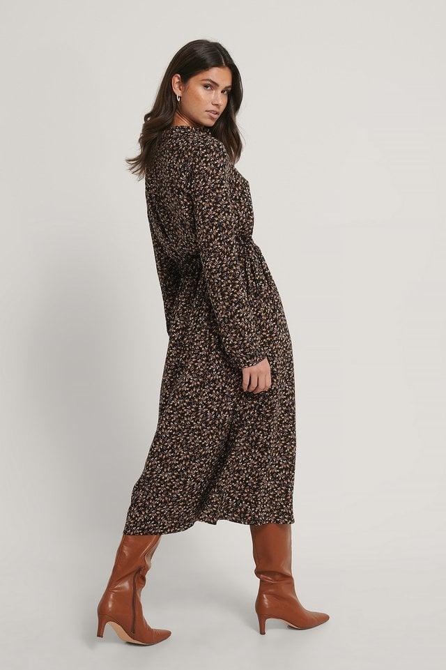 Maxi Dress Drawstring Waist Outfit.