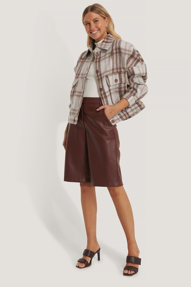 Checked Wool Blend Jacket Multicolor Outfit.