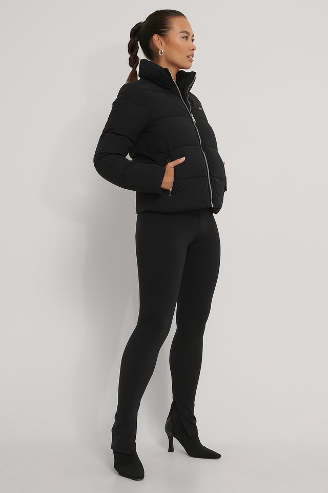 Modern Puffer Jacket Black Outfit.