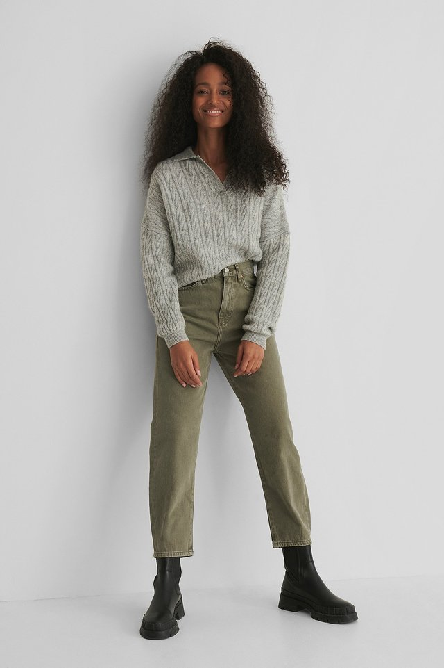 Veronica Jeans Green Outfit.