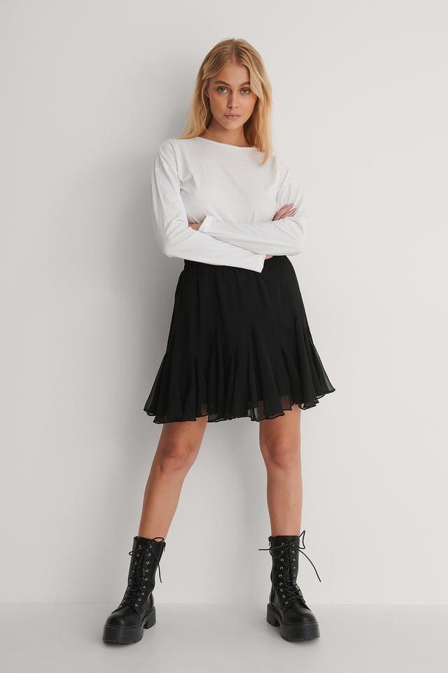 Flowey Mini Skirt Outfit.